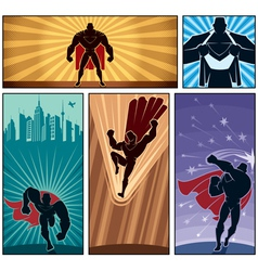 Superhero Banners 2 vector image vector image
