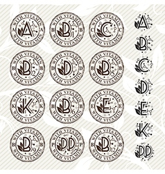 Vitamin stamps collection vector image