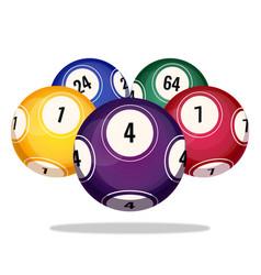 bingo balls icons realistic vector image