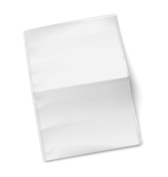 Blank newspaper template on white background vector image vector image
