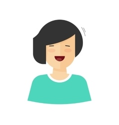 Happy woman smiling isolated vector image vector image