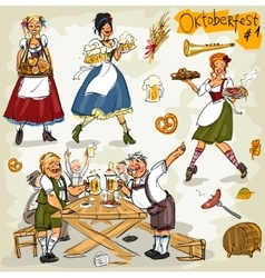Oktoberfest - hand drawn collection - part 1 vector image