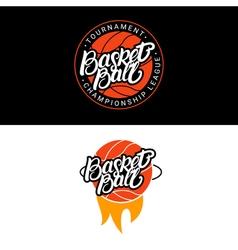 Set of Basketball hand written lettering logo vector image vector image