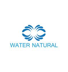 water natural logo vector image