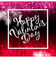 Happy Valentines Day Lettering Postcard Flyer vector image vector image