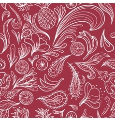 Hot Tropical Outline Pattern vector image
