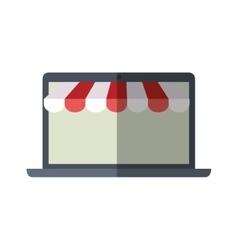 online shopping laptop sale e-commerce color vector image
