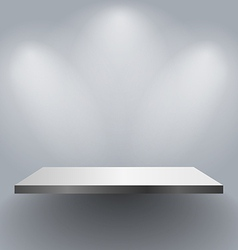 Wall shelf vector image