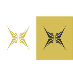 wing abstract art logo vector image