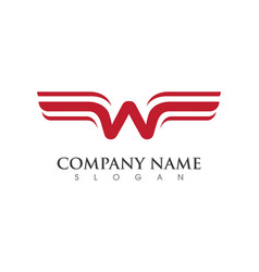 wing logo template icon design vector image vector image