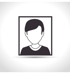 icon character upload process design isolated vector image vector image
