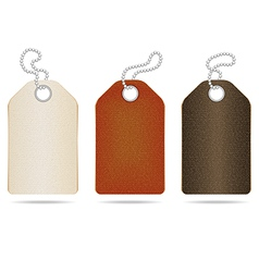 Leather Tag vector image vector image