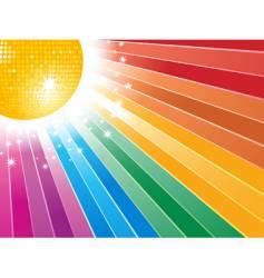 rainbow starburst vector image vector image
