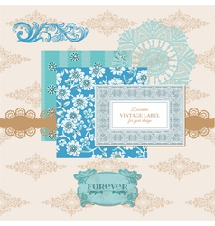 Scrapbook Design Elements - Vintage Flower Card vector image vector image
