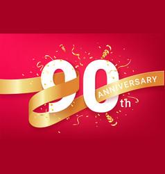 90th anniversary celebration banner template vector