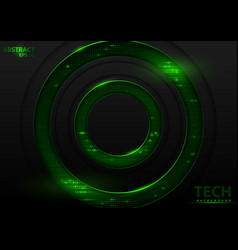 Abstract tech background with green elements vector