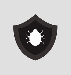 Antivirus icon on white background vector