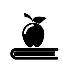 apple book school symbol pictogram vector image