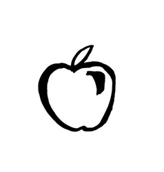 apple grunge icon vector image