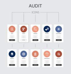Audit infographic 10 steps ui designreview vector