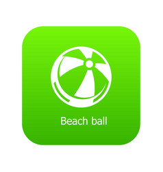 beach ball icon green vector image