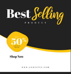 best selling product vector image