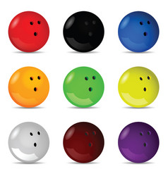 bowling ball silhouette set vector image