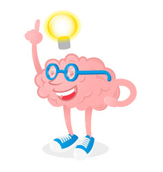 brain with good idea vector image