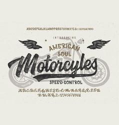 brush script font original retro typeface vector image