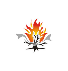 Burning bush technology vector