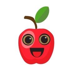 Cartoon apple character vector