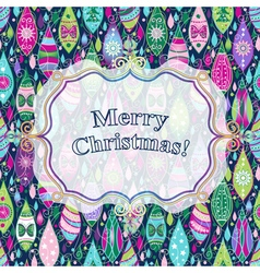 Christmas colorful greeting card vector