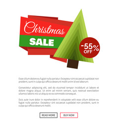 christmas sale 55 percent off vector image