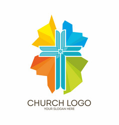 Coloring jesus cross vector