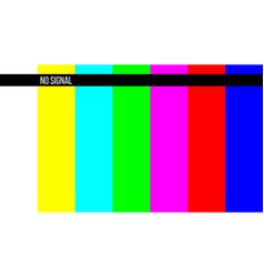 Creative of no signal tv test vector