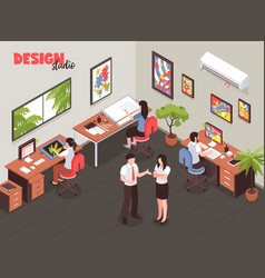 Design studio isometric vector