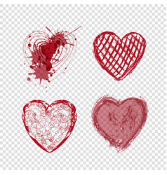 Doodle hearts valentines day love holiday vector