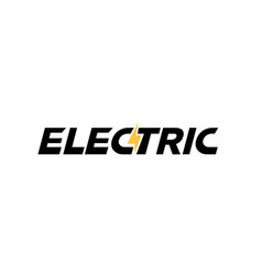 Electric flash symbol typography logo vector