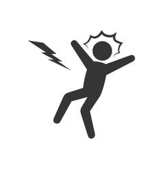 Electrocution man shock vector