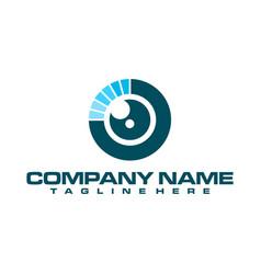 eye logo flat colorful vector image