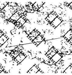 Film strip pattern grunge monochrome vector