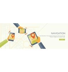 Flat header navigation and vector