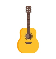 Flat style of guitar icon vector