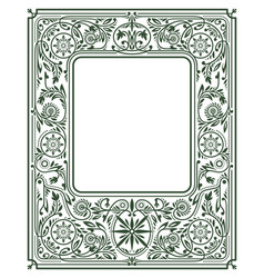 Floral border or framewhite space in the centre vector