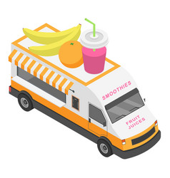 fruit juices truck icon isometric style vector image