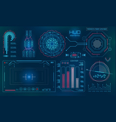 futuristic user interface hud fui technology vector image