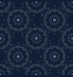 Geometric flower motif japanese style seamless vector
