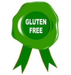 Gluten free seal vector