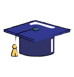 graduation cap object vector image