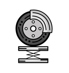 Graysale tire car service to mechanical repair vector